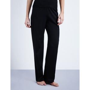 ハンロ hanro レディース インナー パジャマ・ボトムのみ deluxe cotton-jersey pyjama bottoms Black fermart3-store
