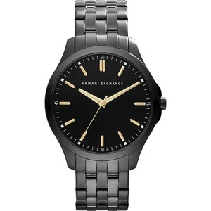 アルマーニ メンズ 腕時計 ax2144 ion-plated steel watch Black|fermart3-store