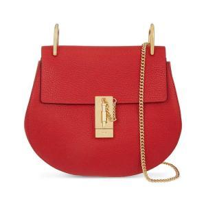 クロエ CHLOE レディース ショルダーバッグ バッグ drew small leather cross-body bag Plaid red|fermart3-store