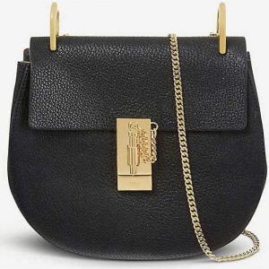 クロエ CHLOE レディース ショルダーバッグ バッグ Drew mini leather cross-body bag Black|fermart3-store