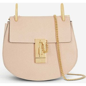 クロエ CHLOE レディース ショルダーバッグ バッグ Drew mini leather cross-body bag Cement pink|fermart3-store