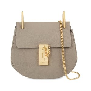 クロエ CHLOE レディース ショルダーバッグ バッグ Drew mini leather cross-body bag Motty grey|fermart3-store