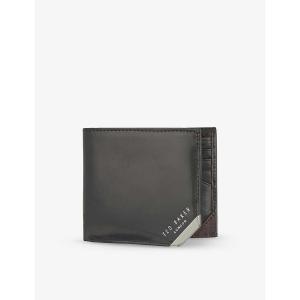 テッドベーカー メンズ 財布 metal corner wallet Black fermart3-store