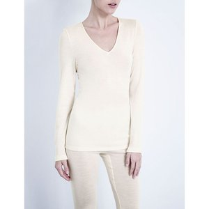 ハンロ HANRO レディース インナー トップのみ Wool and silk-blend top Cyg: cygne fermart3-store