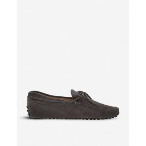 トッズ tods メンズ シューズ・靴 ドライビングシューズ 122 suede driving shoes Grey|fermart3-store