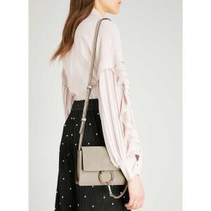 クロエ レディース ショルダーバッグ バッグ faye small leather shoulder bag Motty grey|fermart3-store