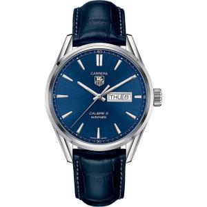 タグ ホイヤー メンズ 腕時計 war201e.fc6292 carrera stainless steel and leather watch Blue|fermart3-store