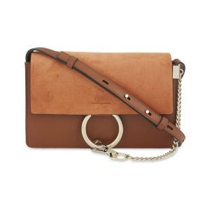 クロエ CHLOE レディース クラッチバッグ バッグ Faye small leather suede clutch Tobacco|fermart3-store