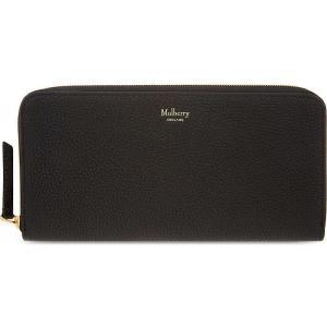 マルベリー mulberry レディース アクセサリー 財布 grained leather zip-around wallet Black|fermart3-store