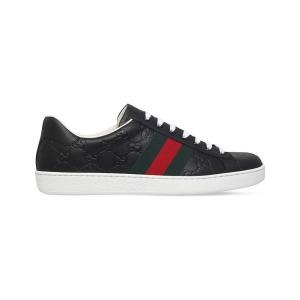 グッチ gucci メンズ スニーカー シューズ・靴 new ace leather trainers Black|fermart3-store