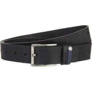 テッドベーカー メンズ ベルト keepsak leather belt Black fermart3-store