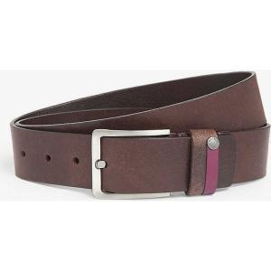 テッドベーカー ted baker メンズ アクセサリー ベルト keepsak leather belt Chocolate fermart3-store