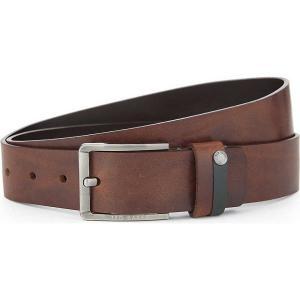 テッドベーカー メンズ ベルト keepsak leather belt Tan fermart3-store