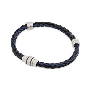 テッドベーカー メンズ ブレスレット ジュエリー・アクセサリー block two-tone woven bracelet Charcoal fermart3-store