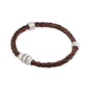 テッドベーカー メンズ ブレスレット ジュエリー・アクセサリー block two-tone woven bracelet Chocolate fermart3-store
