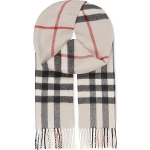 バーバリー burberry レディース アクセサリー スカーフ・マフラー giant check cashmere scarf Stone check|fermart3-store