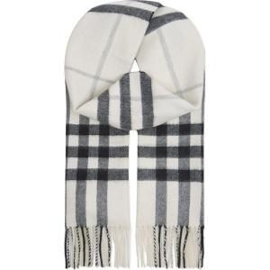 バーバリー burberry レディース アクセサリー スカーフ・マフラー giant check cashmere scarf Natural white chk|fermart3-store