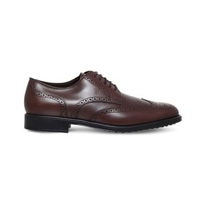 トッズ tods メンズ シューズ・靴 革靴 brogued leather derby shoes Brown|fermart3-store