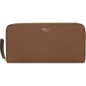 マルベリー レディース 財布 grained leather zip-around wallet Oak|fermart3-store