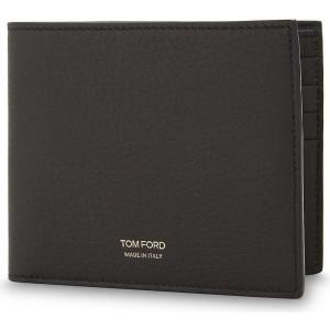 トム フォード メンズ 財布 grained leather billfold wallet Dark chocolate|fermart3-store