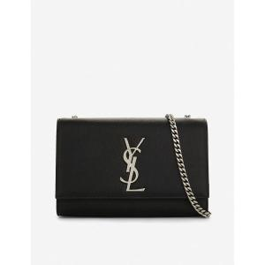 イヴ サンローラン レディース ショルダーバッグ バッグ kate monogram leather shoulder bag Black|fermart3-store