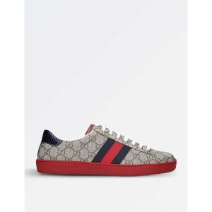 グッチ gucci メンズ スニーカー シューズ・靴 new ace gg canvas trainers Brown/oth|fermart3-store
