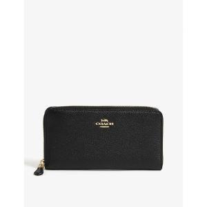 コーチ レディース 財布 accordion grained leather continental wallet Li/black|fermart3-store