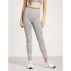 LNDR レディース スパッツ・レギンス インナー・下着 seven eight compression seamless stretch-jersey leggings Grey marl|fermart3-store