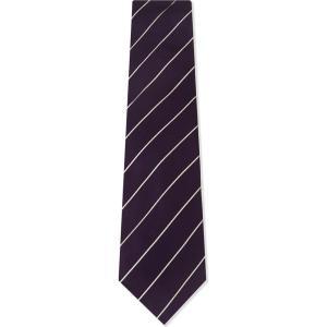 ラルフ ローレン メンズ ネクタイ diagonal-stripe satin silk tie Dark purple|fermart3-store