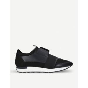 バレンシアガ メンズ スニーカー シューズ・靴 race runners leather and mesh trainers Black|fermart3-store