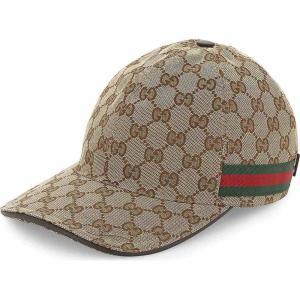 グッチ gucci メンズ キャップ 帽子 gg web stripe baseball cap Cocoa|fermart3-store