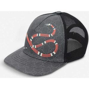 グッチ GUCCI メンズ キャップ ベースボールキャップ 帽子 Kingsnake GG Supr...