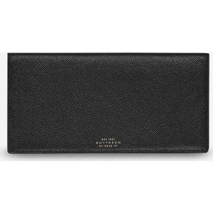 スマイソン メンズ 財布 panama slim grained-leather travel wallet Black|fermart3-store