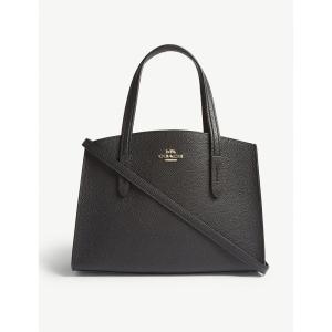 コーチ COACH レディース ショルダーバッグ バッグ Charlie small grained leather shoulder bag Li/black fermart3-store