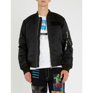 ディーゼル diesel メンズ ブルゾン アウター j-souly satin bomber jacket Black|fermart3-store
