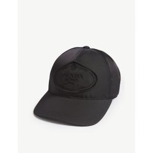 プラダ prada レディース キャップ 帽子 logo nylon baseball cap Black|fermart3-store