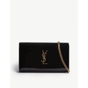 イヴ サンローラン saint laurent レディース ショルダーバッグ バッグ patent wallet-on-chain Black fermart3-store