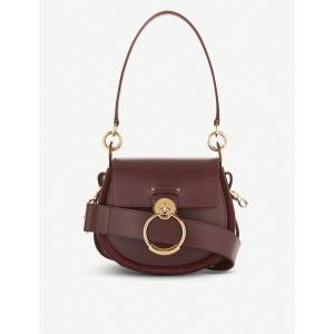 クロエ chloe レディース ショルダーバッグ バッグ tess leather and suede cross-body bag Burnt brown|fermart3-store