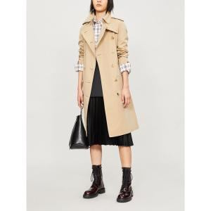 バーバリー burberry レディース トレンチコート アウター the long kensington heritage cotton trench coat Honey|fermart3-store