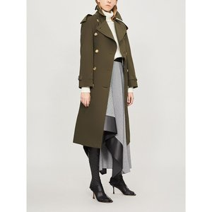 バーバリー burberry レディース トレンチコート アウター the heritage long westminster cotton trench coat Dark military khaki|fermart3-store