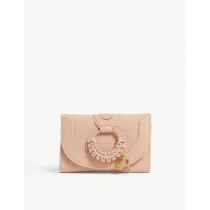 クロエ see by chloe レディース 財布 hana leather wallet Powder|fermart3-store