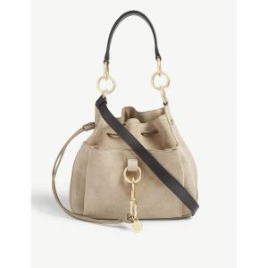 クロエ SEE BY CHLOE レディース ショルダーバッグ バッグ Tony suede shoulder bag Motty grey|fermart3-store