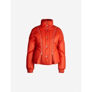 クロエ SEE BY CHLOE レディース ダウン・中綿ジャケット アウター Quilted padded-cotton puffer jacket Red clay fermart3-store