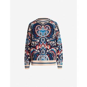 クロエ SEE BY CHLOE レディース ニット・セーター トップス Paisley-pattern wool-blend jumper Multicolor brown|fermart3-store