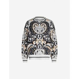 クロエ SEE BY CHLOE レディース ニット・セーター トップス Paisley-pattern wool-blend jumper Multicolor|fermart3-store
