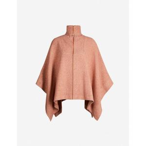 クロエ SEE BY CHLOE レディース ポンチョ アウター High-neck oversized cotton-blend cape Brown delight fermart3-store
