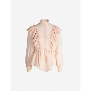 クロエ SEE BY CHLOE レディース ブラウス・シャツ トップス Ruffled crepe blouse Smoky pink|fermart3-store