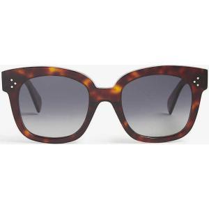 セリーヌ CELINE レディース メガネ・サングラス スクエアフレーム Square frame sunglasses BROWN fermart3-store