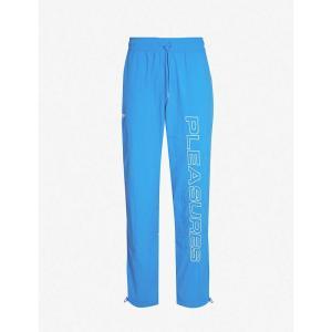 リーボック REEBOK メンズ ボトムス・パンツ pleasures graphic-print shell jogging bottoms Vital blue/pine green fermart3-store