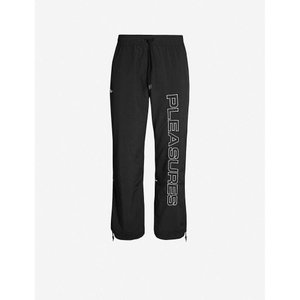 リーボック REEBOK メンズ ボトムス・パンツ pleasures graphic-print shell jogging bottoms Black/black fermart3-store